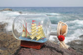 Sailing Ship in the Bottle — Stock Photo