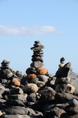 The Buddhist Traditional Stone Pyramids — Stock Photo