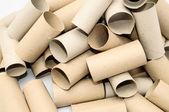 Pusty papier toaletowy rolka — Zdjęcie stockowe