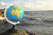 Vintage Globes Planet Earth — Stock Photo