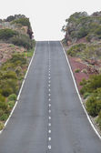 Road on Cloudy Day in El Teide National Park — Stock Photo