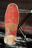 Restore an Old Vintage Wooden  Skateboard — Stock Photo