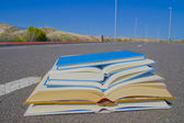 On the Road Literature Concept — Stock Photo
