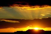 цветные облака на закате — Стоковое фото