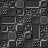 Zwarte gestructureerde achtergrond — Stockvector