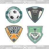 Logo calcio — Vettoriale Stock