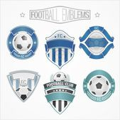 Logos for football teams — Vettoriale Stock