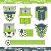 Football symbolism — Vetorial Stock