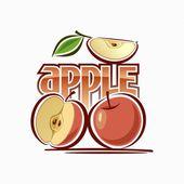 Bild av apple — Stockvektor
