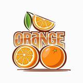 Portakal resmi — Stok Vektör