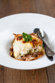 Authentic Italian Meat Lasagna — Stock Photo