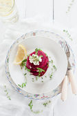 Beet and Goat Cheese Salad — Stock Photo