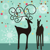 Christmas reindeers — Stock Vector