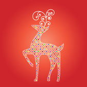 Elegant Christmas deer — Stock Vector