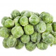 Brussels sprouts in closeup over white background — Stock Photo