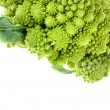Cabbage romanesco broccoli on a white background - Stock Photo