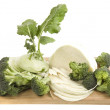 Stock Photo: Cabbage on board