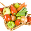 Fresh vegetables in the basket — Stock Photo #13816097