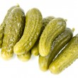 Royalty-Free Stock Photo: Canned cucumbers isolated
