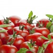 Stock Photo: Red tomatoes on white