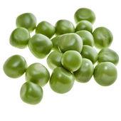 Fresh green peas isolated on white background — Stock Photo
