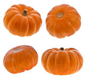 Pumpkins isolated on white — Stock Photo