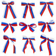 Royalty-Free Stock Photo: Collection bows Russian flag isolated on white