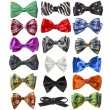 Collection of colorful ribbon bows - Stock Photo