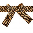 Striped ribbon bow — Stock Photo