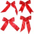 Red bows collection — Stock Photo