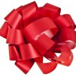 Gift red ribbon bow — Stock Photo