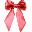 Red holiday ribbon bow on white background — Stock Photo #13835548