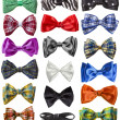 Collection of colorful ribbon bows isolation on a white background — Stock Photo #13835659