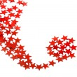 Royalty-Free Stock Photo: Red Christmas Star with copy space for your text on a white background