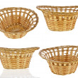 Woven straw basket isolated — Stock Photo #13835849