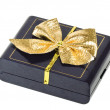 Stock Photo: Gift box with gold bow