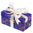 Gift box with bow isolated on white — Stock Photo #13836040