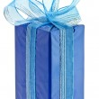 Present box with ribbon bow isolated — Stock Photo #13836348