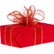 Gift red box with ribbon bow - Lizenzfreies Foto