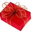 Gift red box with ribbon bow - ストック写真