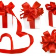 Royalty-Free Stock Photo: Present box with red ribbon