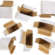 Royalty-Free Stock Photo: Open paper boxes on white background
