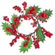 Stock Photo: Christmas wreath isolated on white