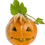 Halloween Pumpkin isolated on white — Stock Photo