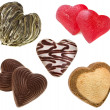 Collection of shape hearts — Stock Photo
