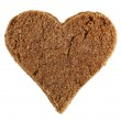 Muscovado brown sugar heart shaped over white background — Stock Photo #13837531
