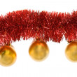 Royalty-Free Stock Photo: Christmas decoration with golden balls