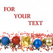 Christmas decoration with copyspace for your text — Stok fotoğraf