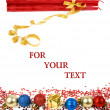 Christmas decoration with copyspace for your text - Stock fotografie