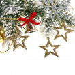 Christmas decoration on white background — Stockfoto